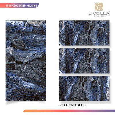 800x1600 High Glossy VOLCANO BLUE