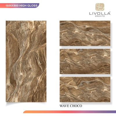 800x1600 High Glossy WAVE CHOCO