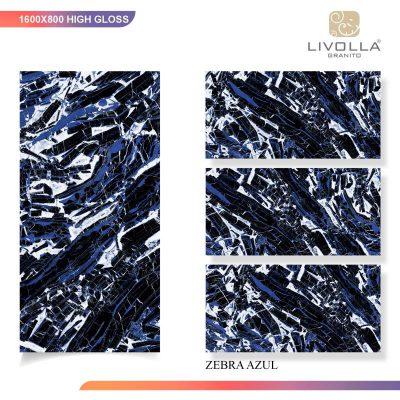 800x1600 High Glossy ZEBRA AZUL
