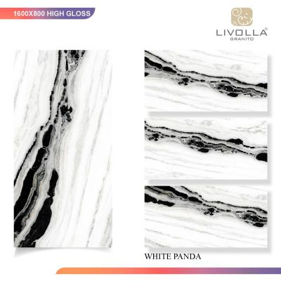800x1600 High Glossy ZWHITE PANDA