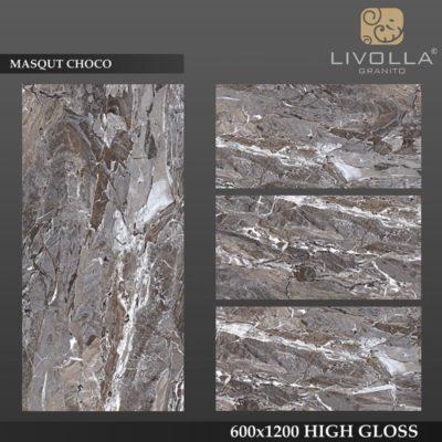 MASQUT CHOCO - 600x1200(60x120) HIGH GLOSSY PORCELAIN TILE