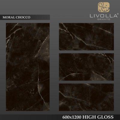 MORAL CHOCCO - 600x1200(60x120) HIGH GLOSSY PORCELAIN TILE