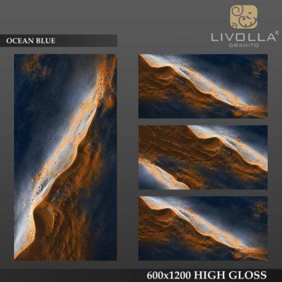 OCEAN BLUE - 600x1200(60x120) HIGH GLOSSY PORCELAIN TILE
