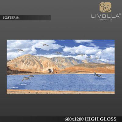 POSTER 54 - 600x1200(60x120) HIGH GLOSSY PORCELAIN TILE