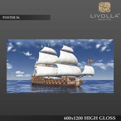 POSTER 56 - 600x1200(60x120) HIGH GLOSSY PORCELAIN TILE