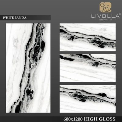 WHITE PANDA - 600x1200(60x120) HIGH GLOSSY PORCELAIN TILE