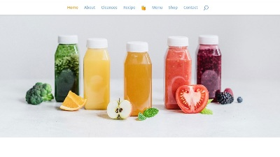 سایت آبمیوه فروشی juice shop
