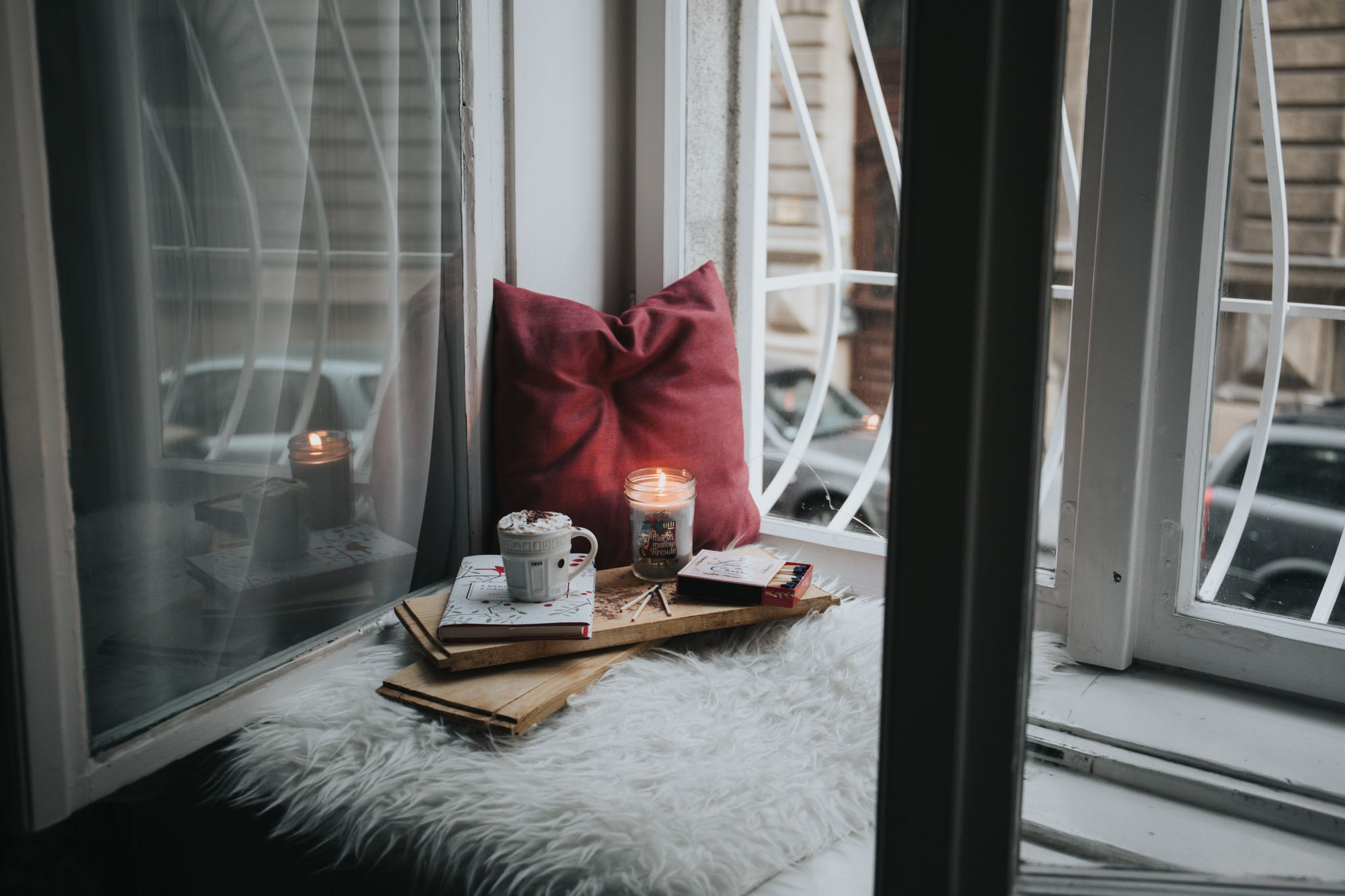 diary cup and window