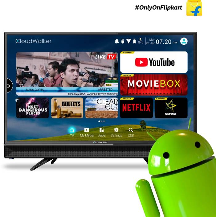 CloudWalker TV32SH (32 Inches) HD Ready LED Smart TV Cloud TV