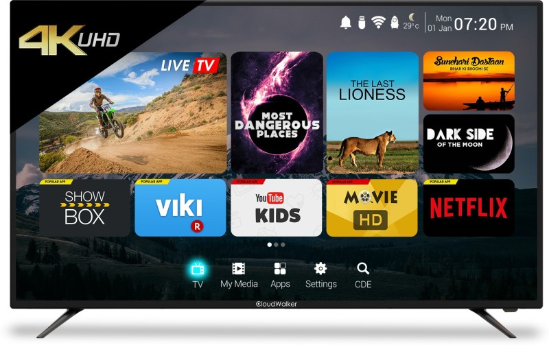 CloudWalker Cloud TV 65SU TV 165cm (65 inch) Ultra HD (4K) LED Smart TV