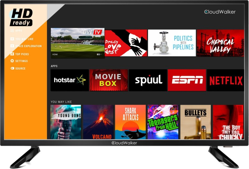 CloudWalker 32SH04X TV 80cm (32 inch) HD Ready LED Smart TV