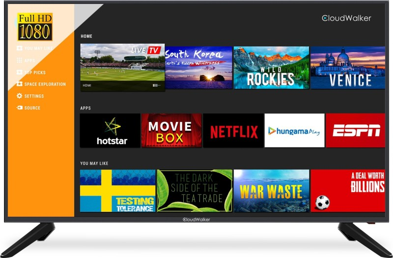 CloudWalker 43SF04X TV 109cm (43 inch) Full HD LED Smart TV