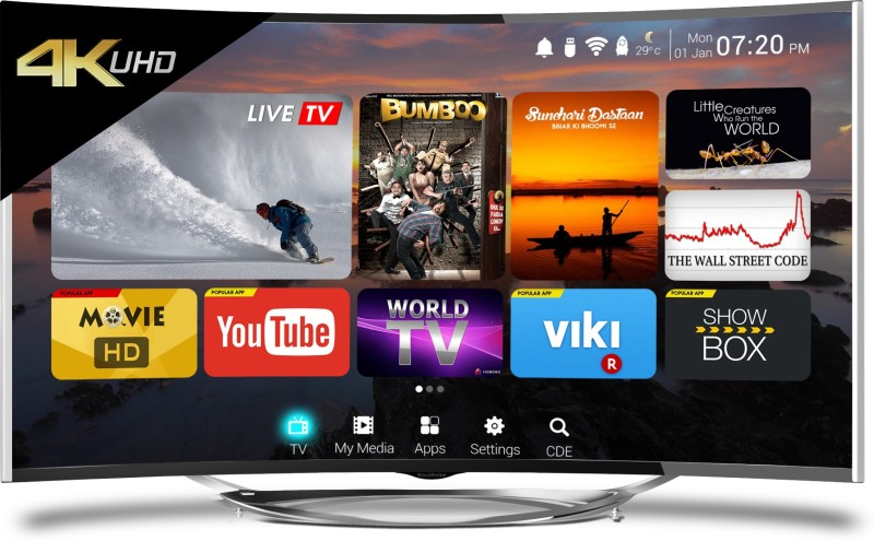 CloudWalker CLOUD TV 55SU-C price list and review