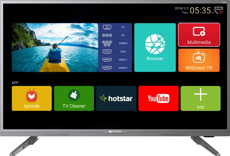 Micromax 40 Canvas 3 102cm (40 inch) Full HD LED Smart TV 2018 Edition