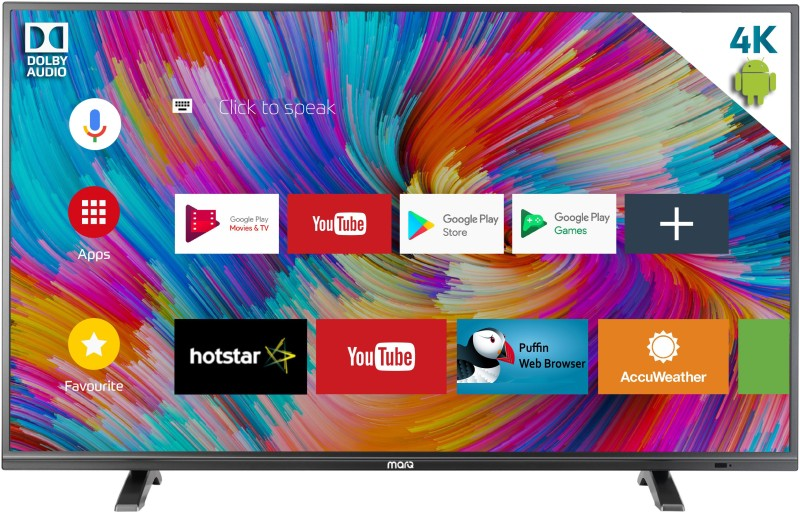 MarQ 49SAUHD Flipkart Dolby Certified Android 49 inch(124 cm) Ultra HD (4K) Smart LED TV