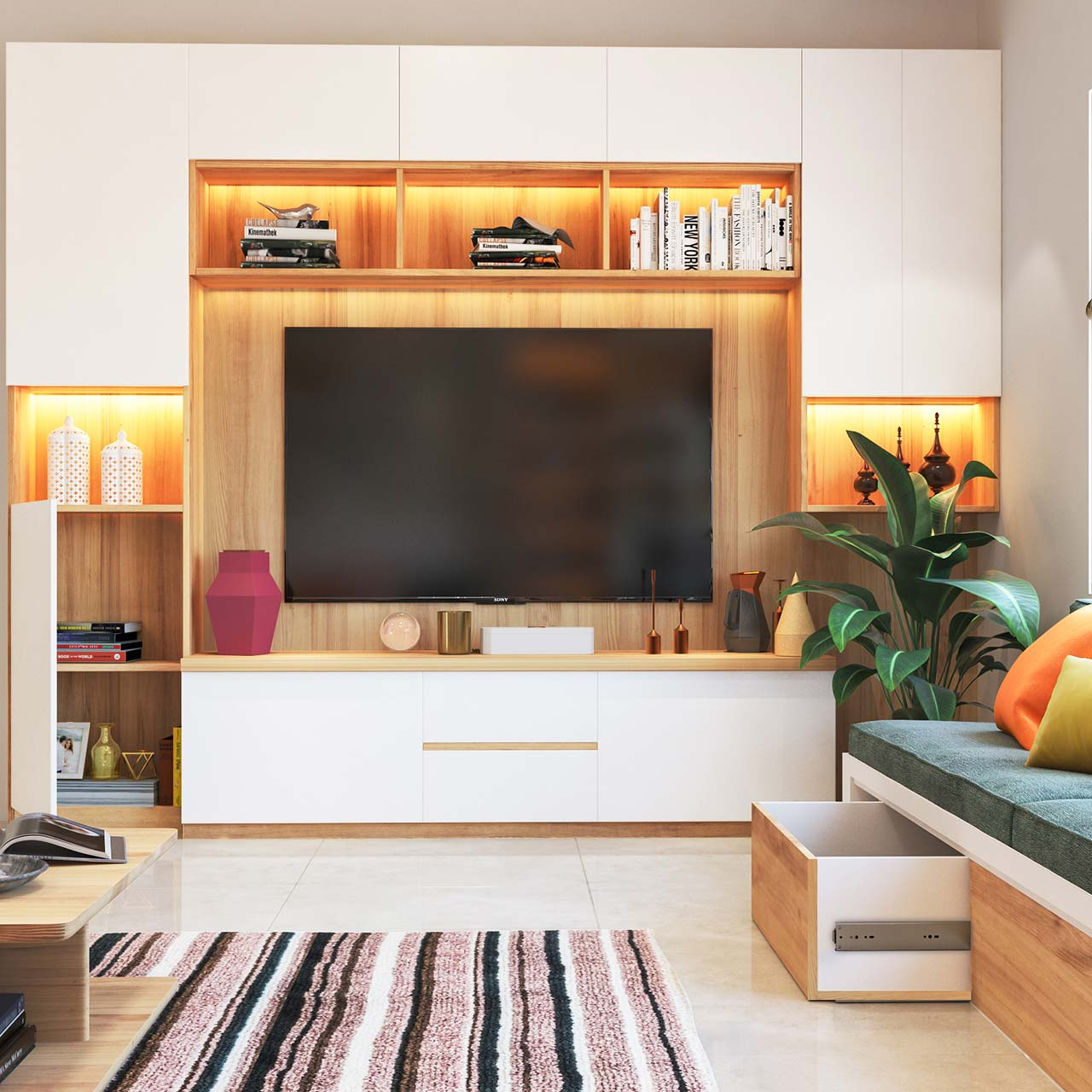 Living Room Cabinet Design In India: Best TV Cabinet Design Ideas For Living Room