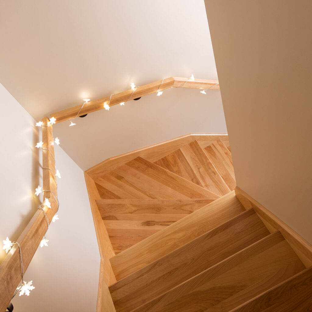 Illuminated staircase design is for lovers of light and bright gives you modern staircase design for indian homes