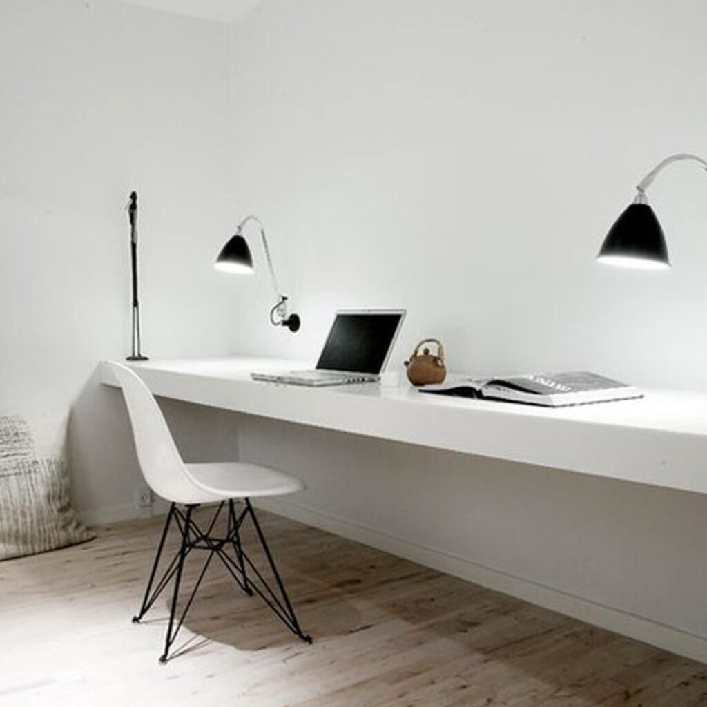 Small and simple study room design for a soothing work vibes