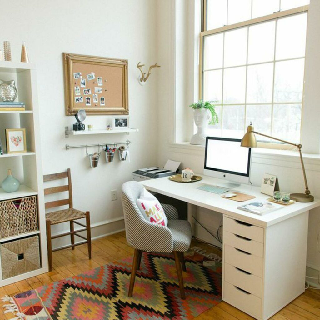Modern study room design with dress up a study with all the frills to make this a beautiful space