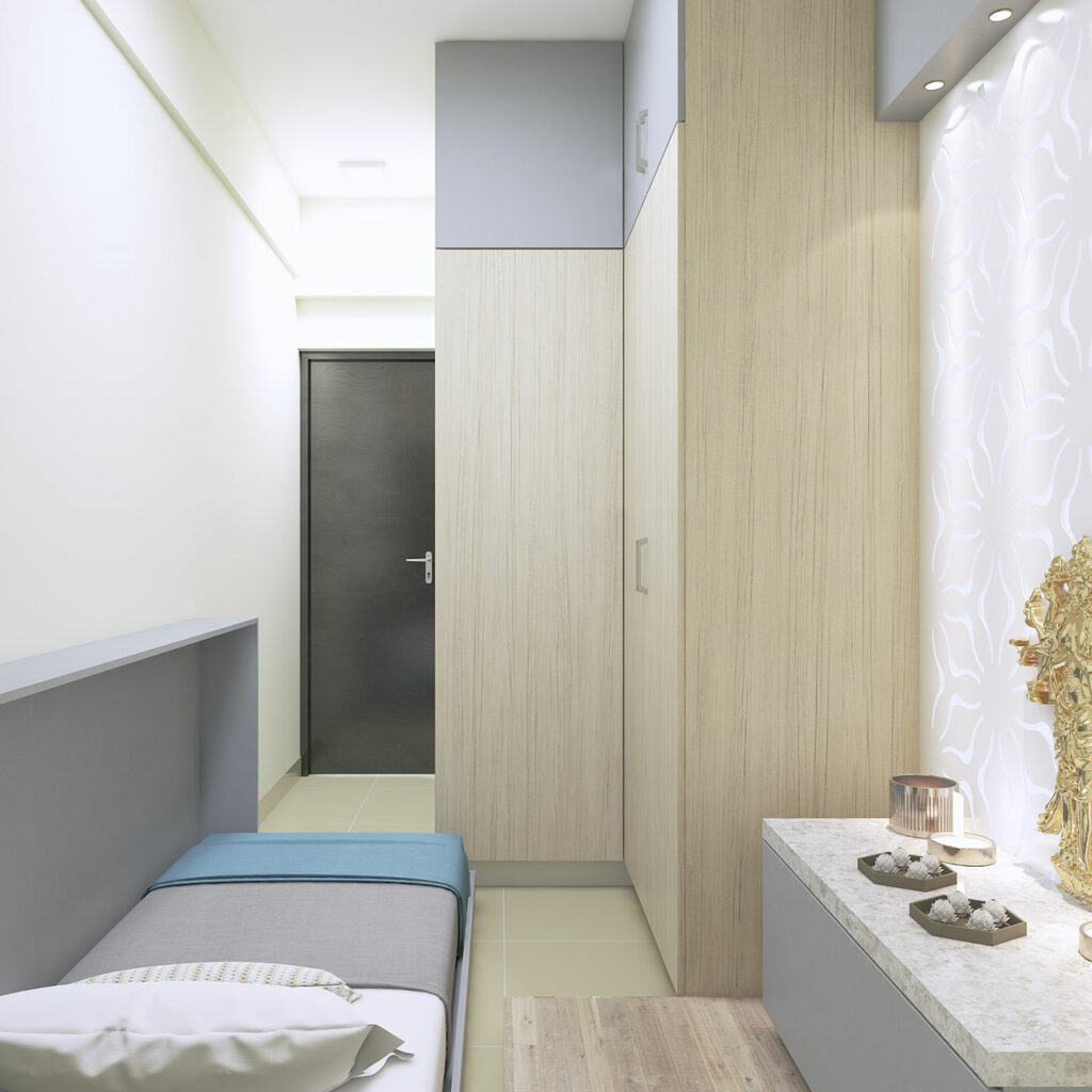 Horizontal murphy bed with hidden folding bed is innovative bed design at best price in India
