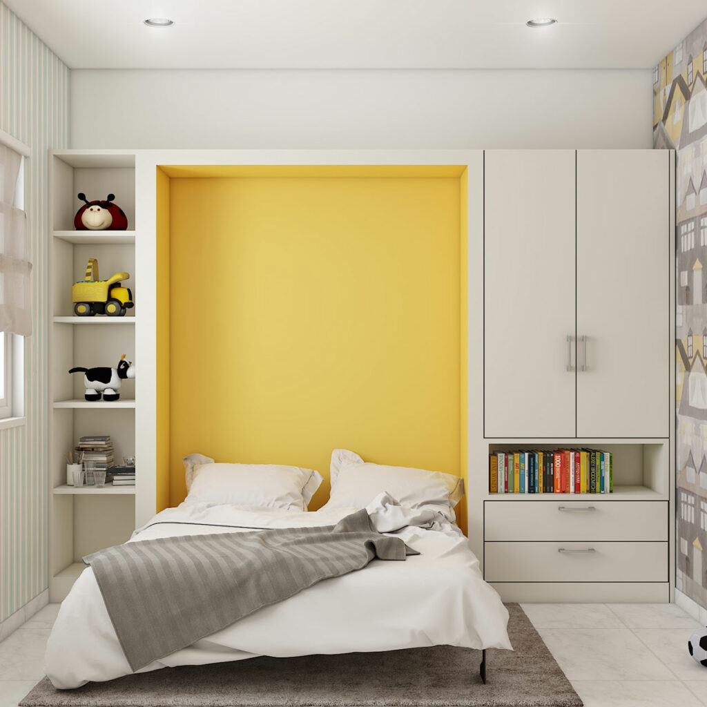 A wardrobe cum bed is a multifunctional furniture with a pullout bed in Bangalore, Mumbai and Hyderabad
