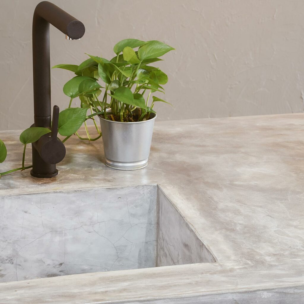 Recycled Kitchen Countertops Are Making With Concrete, Glass, And Paper, Composite And Plastic Materials.