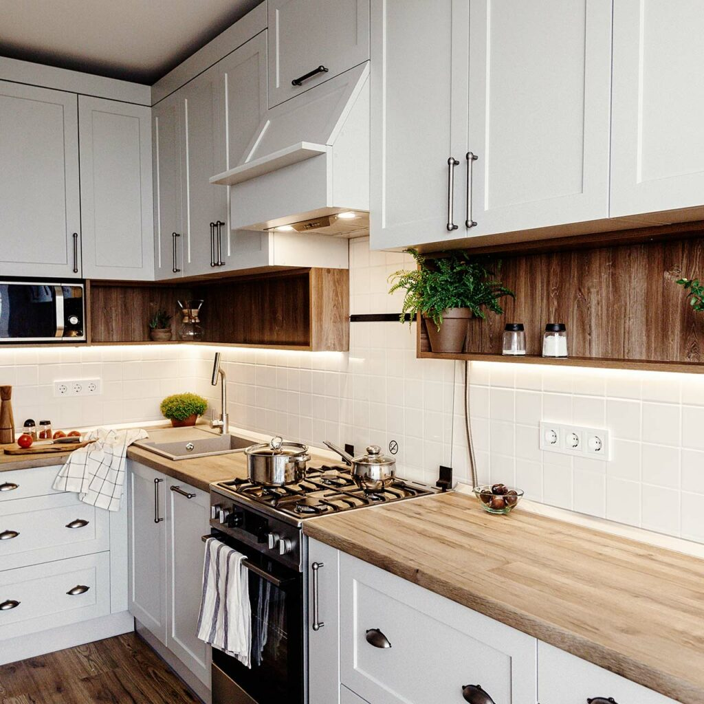 Wooden Countertops In Your Kitchen Bring In A Cottage Like Look And Feel