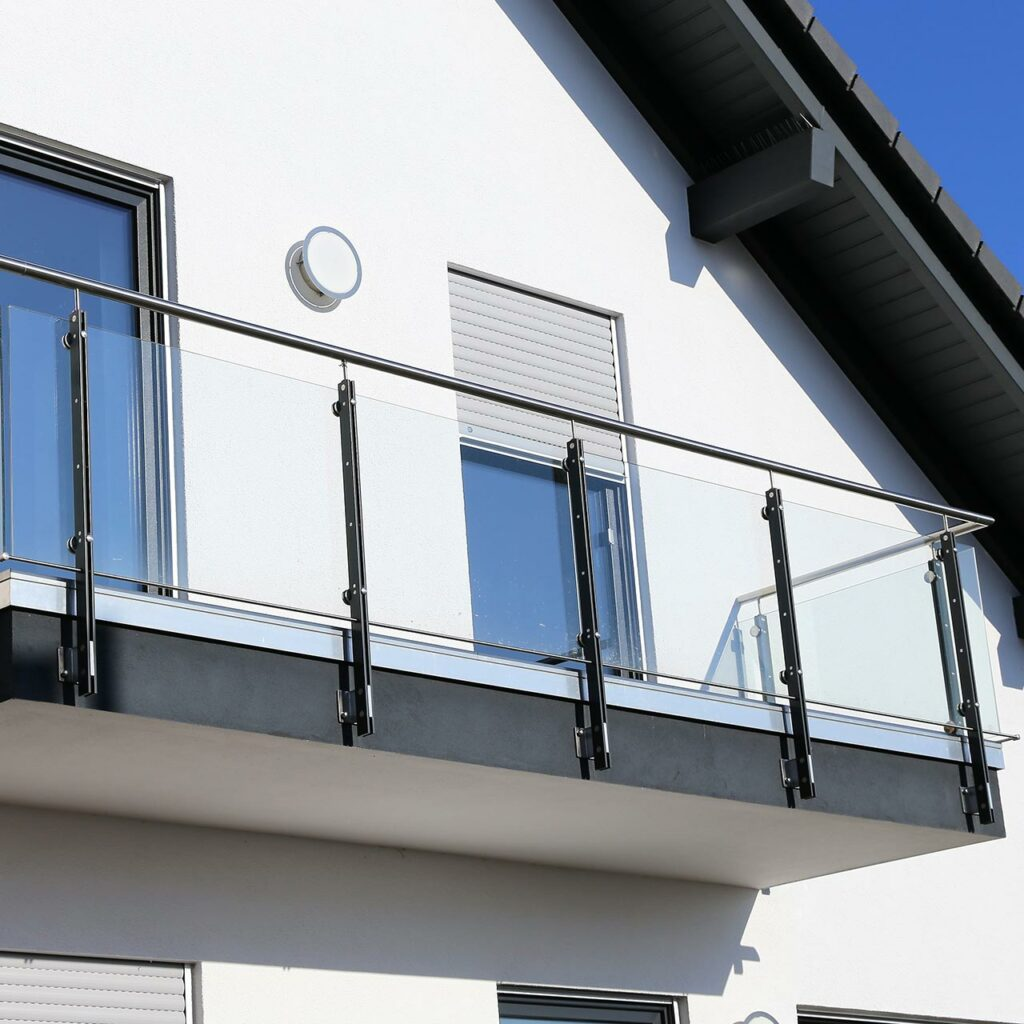 Stainless Steel Designs For Balcony, This Material Lends A Smooth Finish With Its Metallic Glow