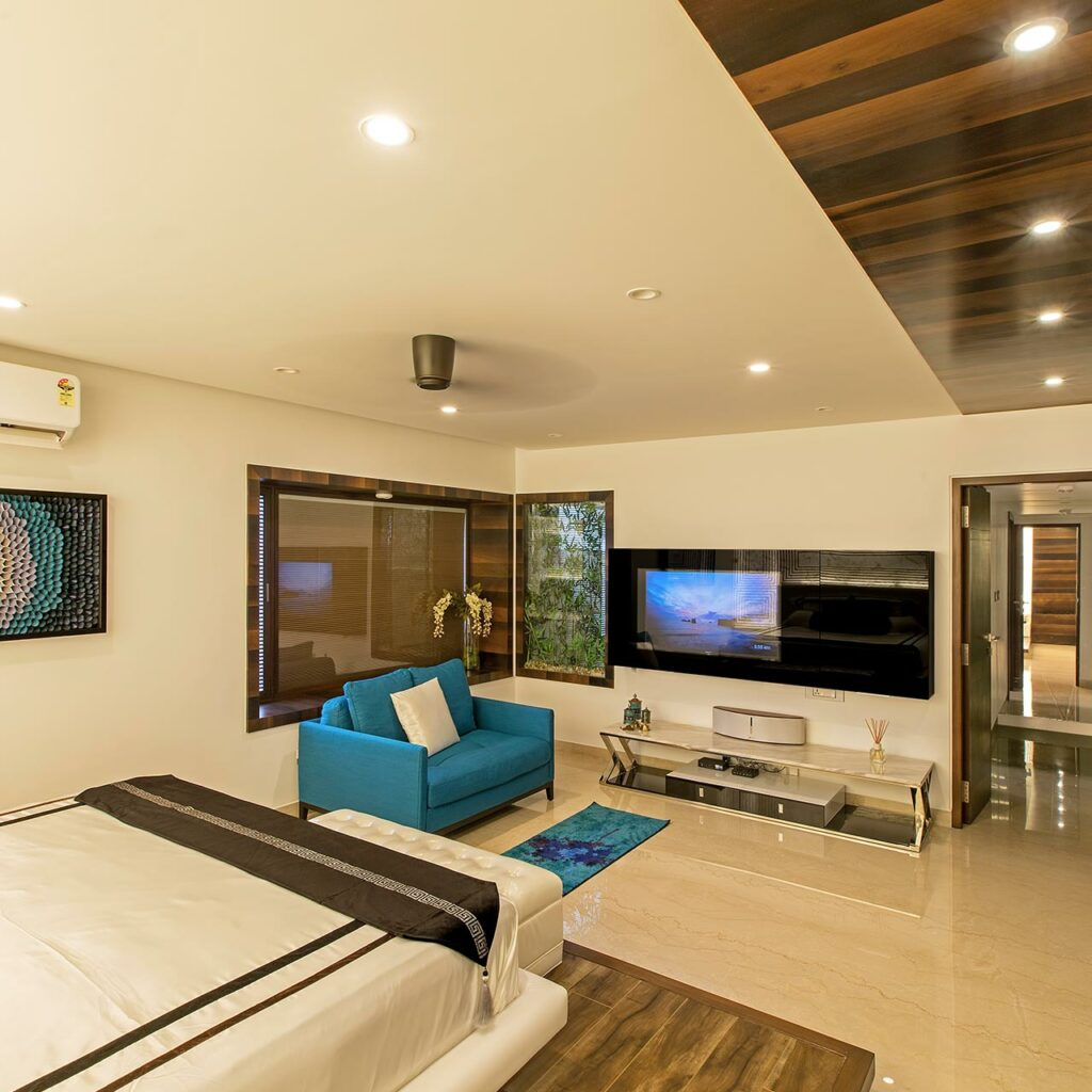 A wooden false ceiling design for your bedroom brings class look to bedroom fall ceiling