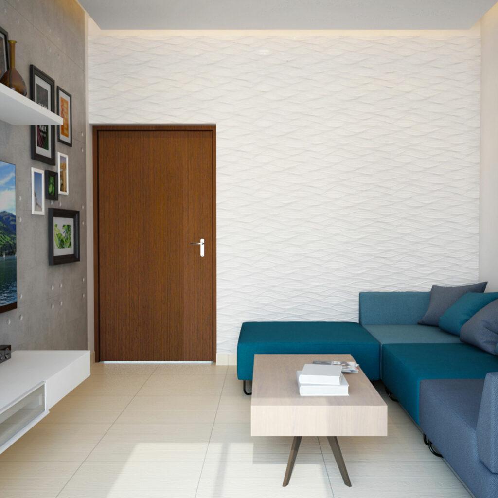 Acoustically Designed False Ceiling For Living Room