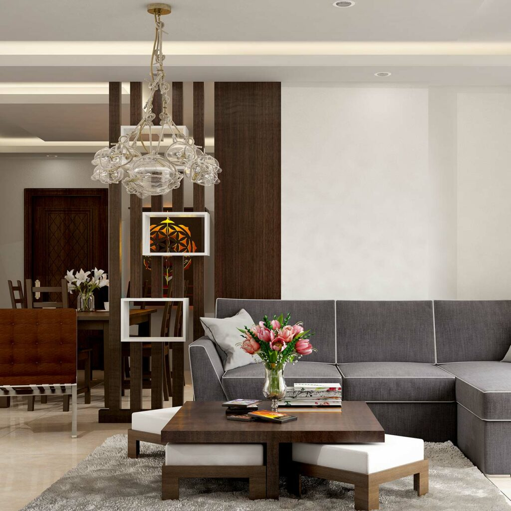 Understand the lighting positions before design your living room false ceiling