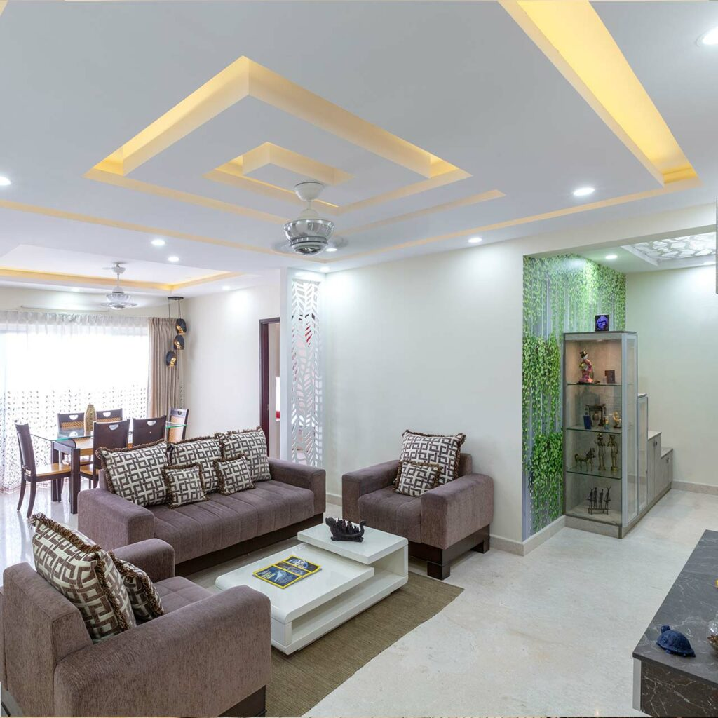 False ceiling design for living room needs to consider the space of your living room false ceiling design