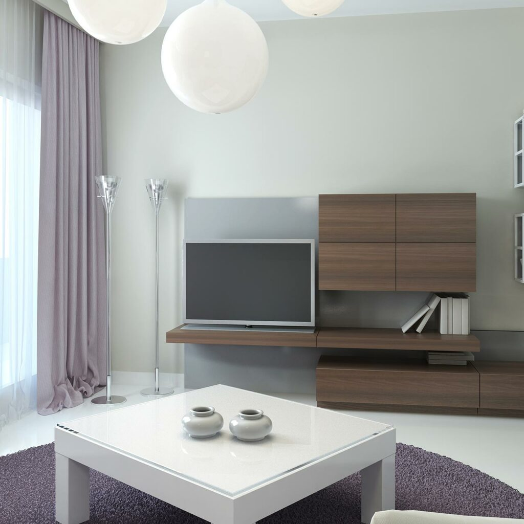 Low Shelf Tv Unit Designs For Living Room, Store Small Items Inside Shelves Of Low Lying Tv Units.