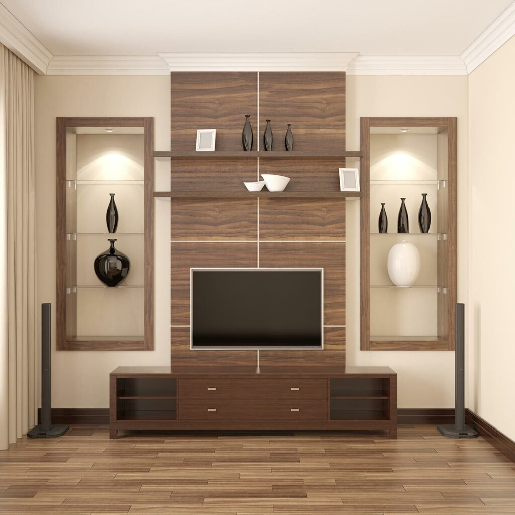 Contemporary TV Unit Design For Living Room, Its Great Addition To Living Room In Terms Of Style And Slickness Of Design