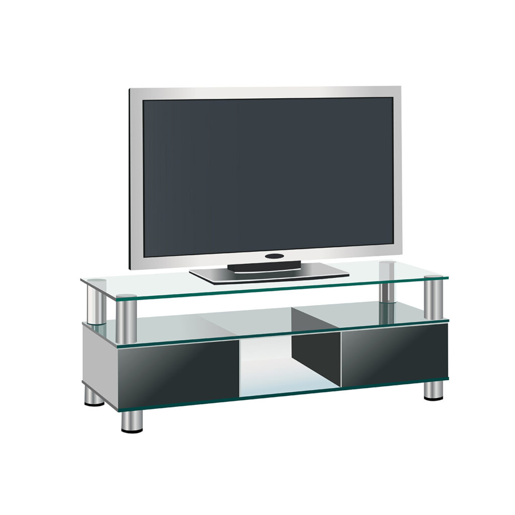 Design your TV Cabinet with Glass Material