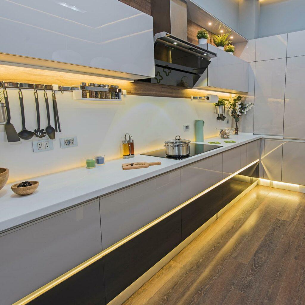 Rope Lighting Design For Kitchen False Ceiling