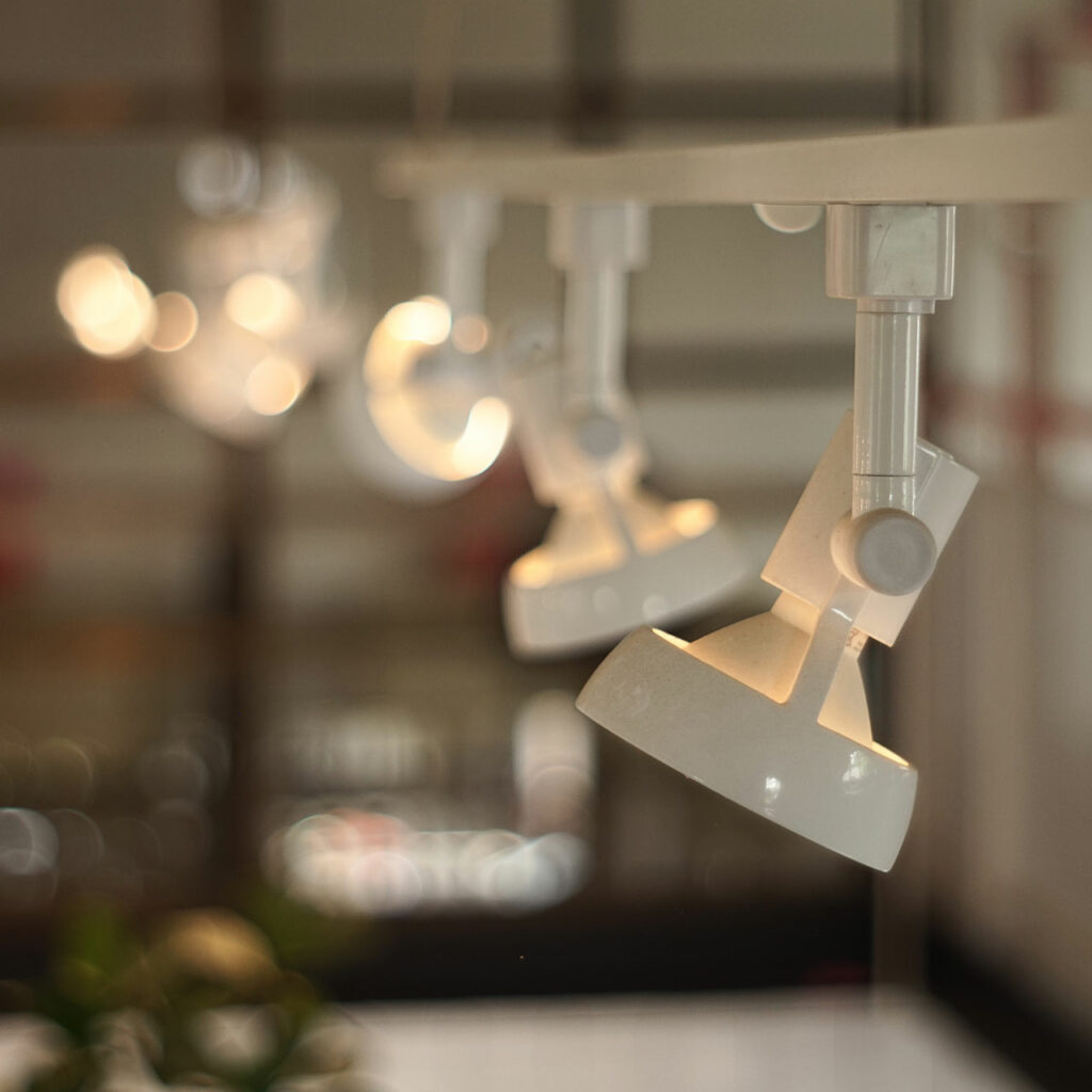 Design your Hall False Ceiling with Hanging Track Lights