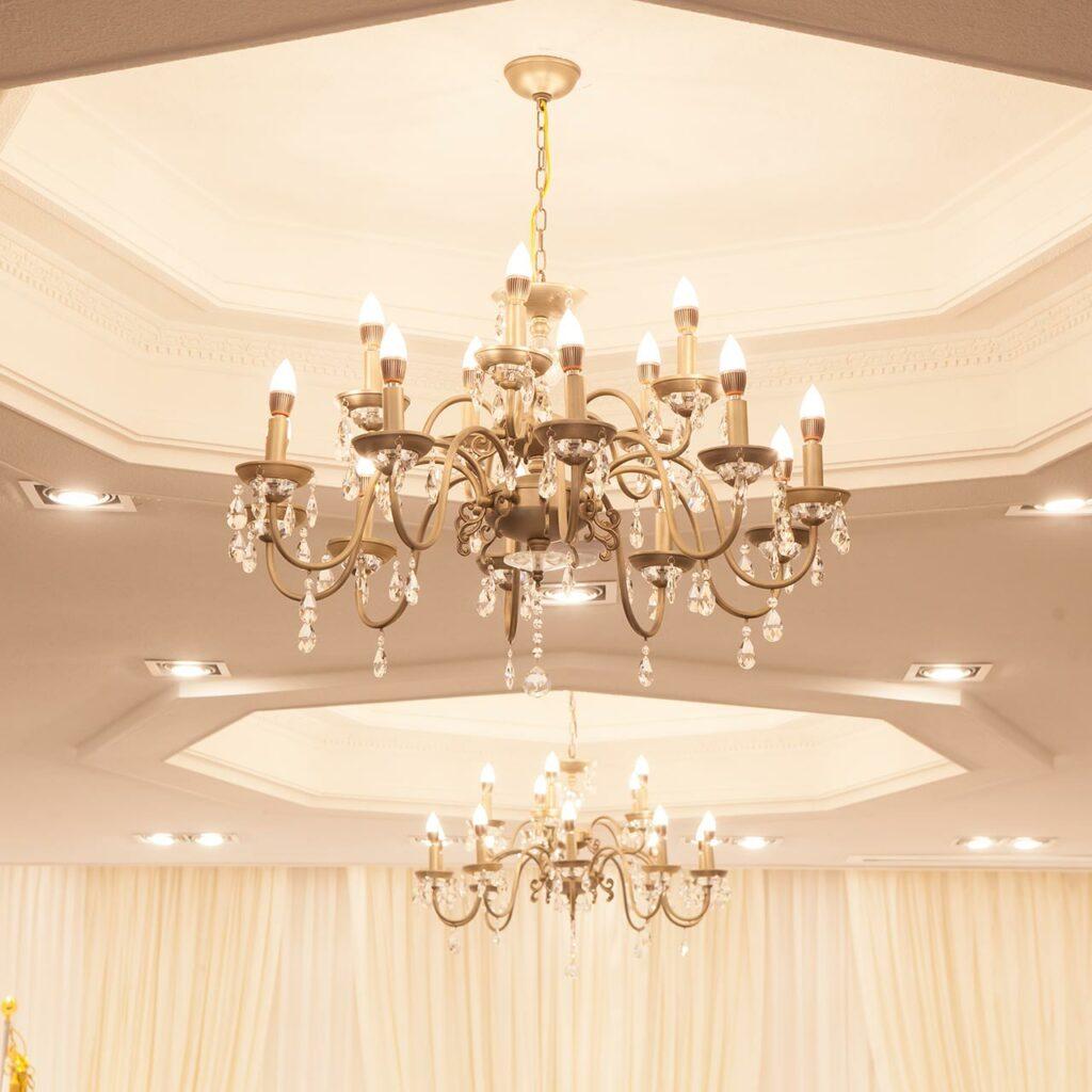 Crystal Chandelier Light Design for Living Room False Ceiling