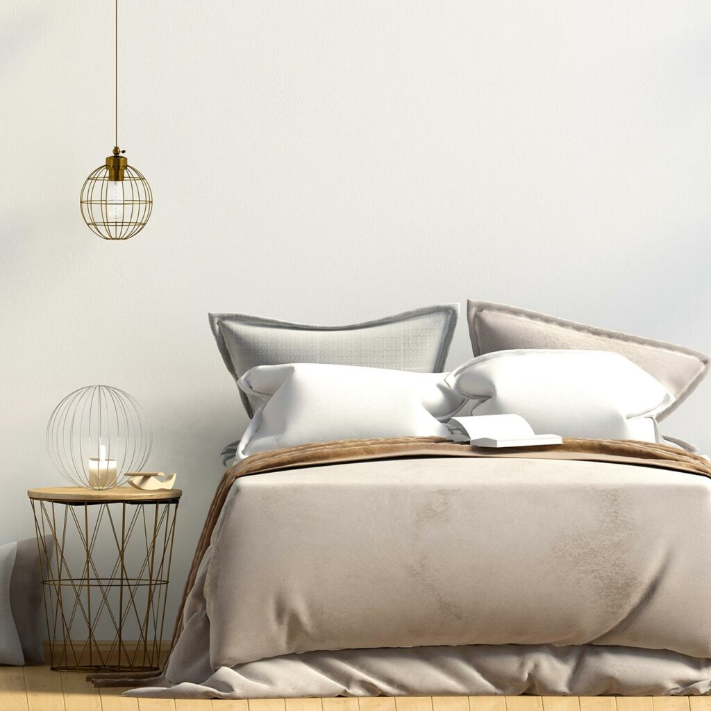 Use Layered Lighting To Make Your Home Bedroom Look Like a Hotel Room.