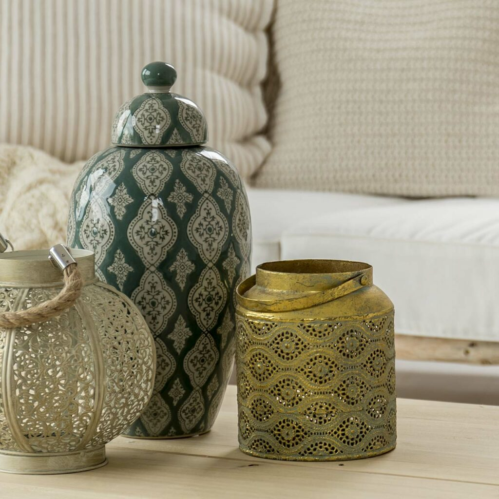 Global pot pourri of styles for affordable home interior
