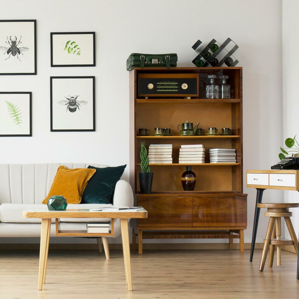 Affordable Home Interior Design for Wall with Old Transistor Radio And That Vintage Suitcase