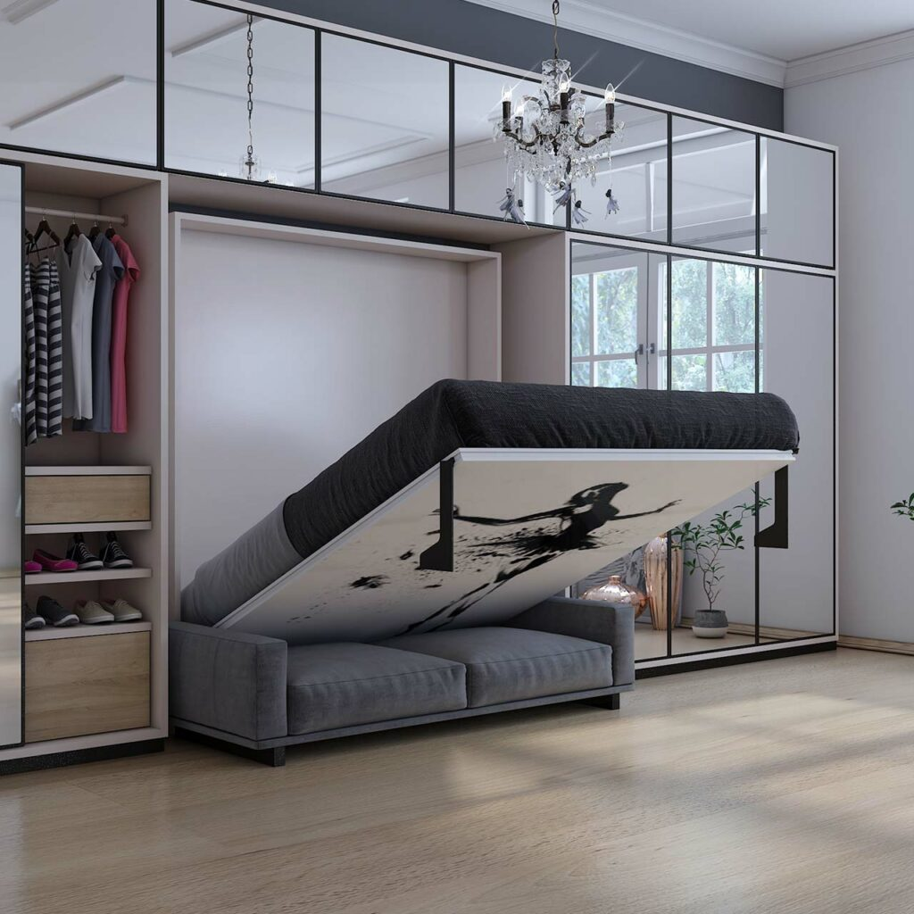 Latest Furniture trends 2019 - Multifunctional Foldable Wall Bed is the future of saving space.