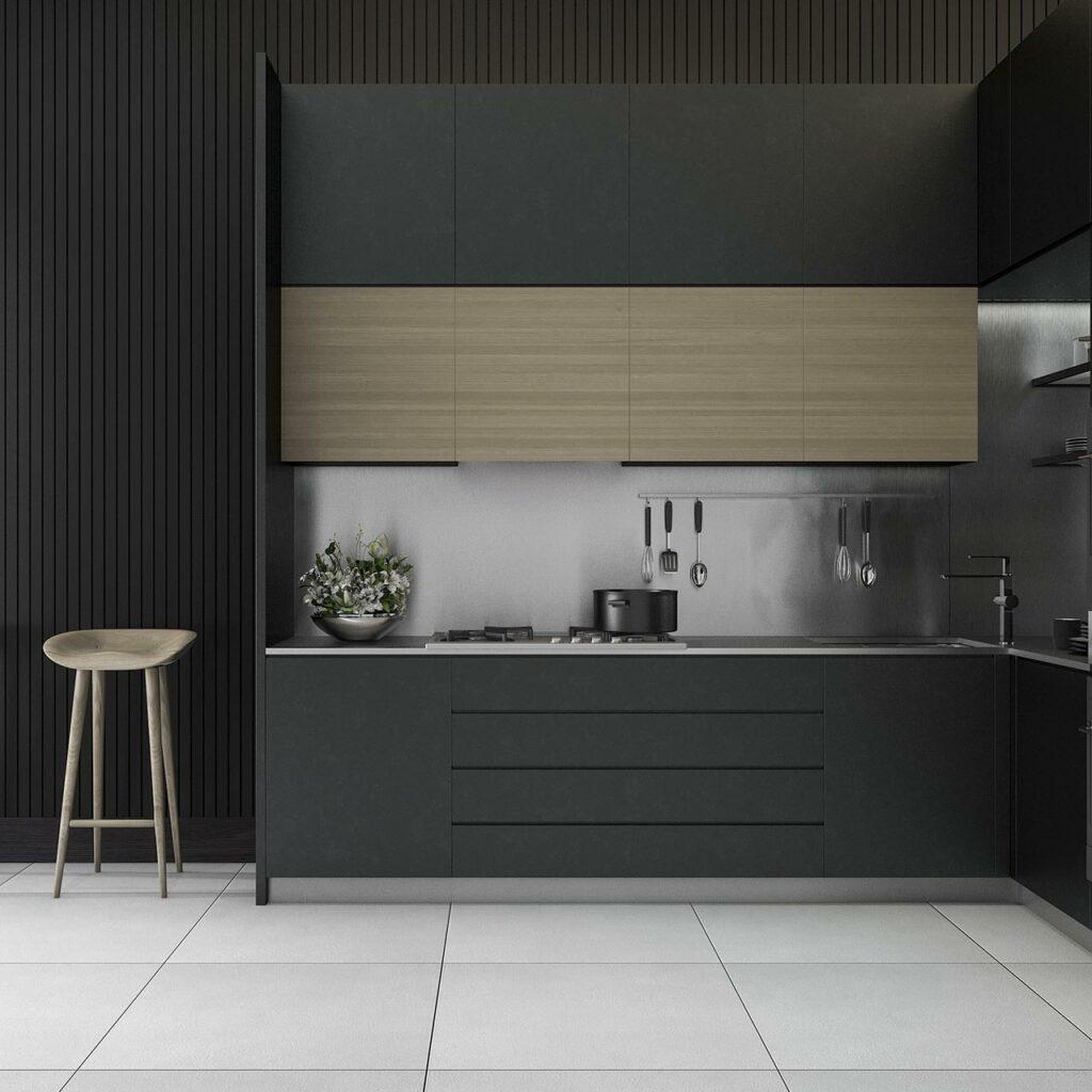 Kitchen Color Idea With Black Paint
