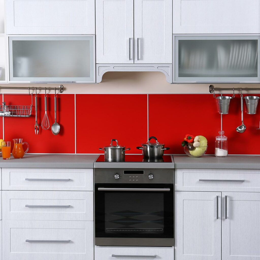 Kitchen Color Design With Red Color