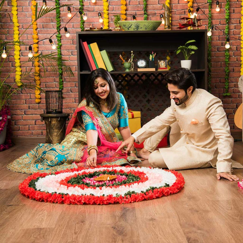 Decorate your home with flowers for Diwali using Diwali flower decoration ideas from Design Cafe.