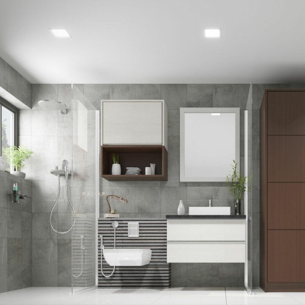 A Decent Grey Bathroom