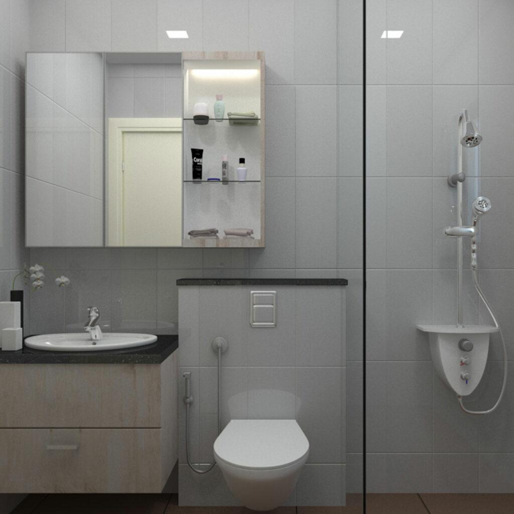An Organised Bathroom