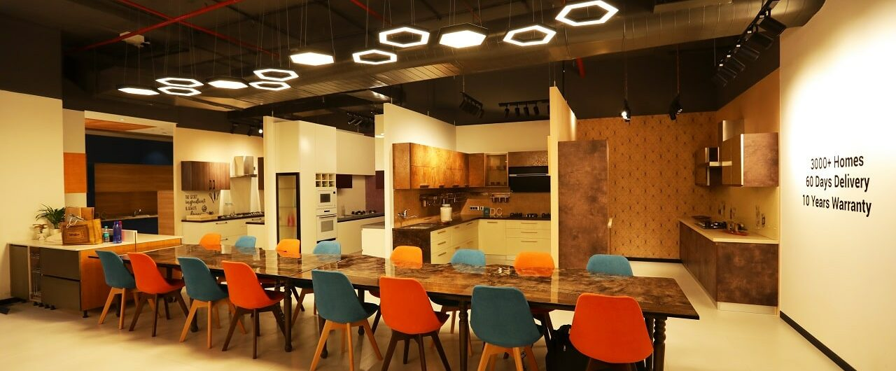 Best Modular Kitchen and Dining Room Designs available at Mumbai Experience Centre or Interior Design Studio.