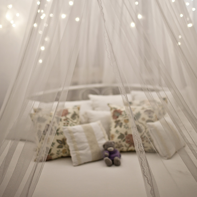 Bedroom ideas for couples with soft and delicate sheers with the right amount of lighting