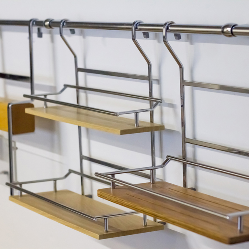 A kitchen organiser with hanging organisers where you can organise any of the items in kitchen organisation ideas